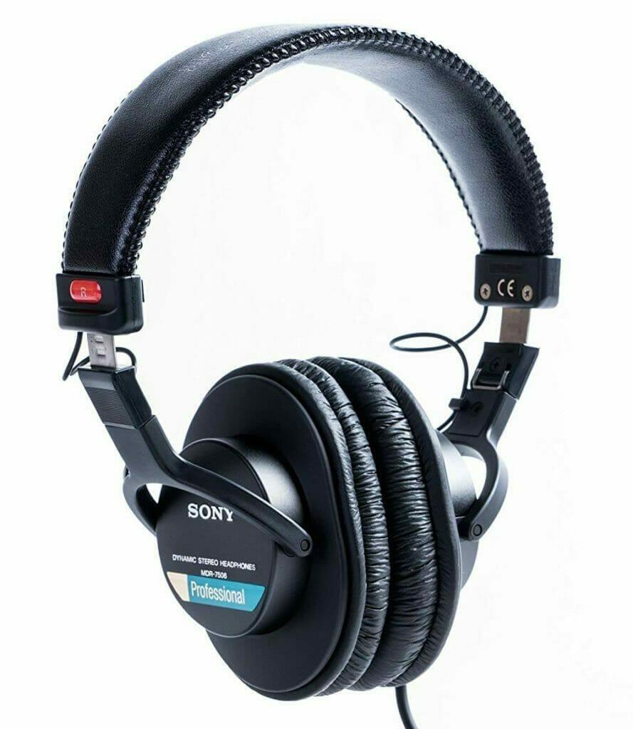 Sony MDR-7506 hoofdtelefoon drumstel