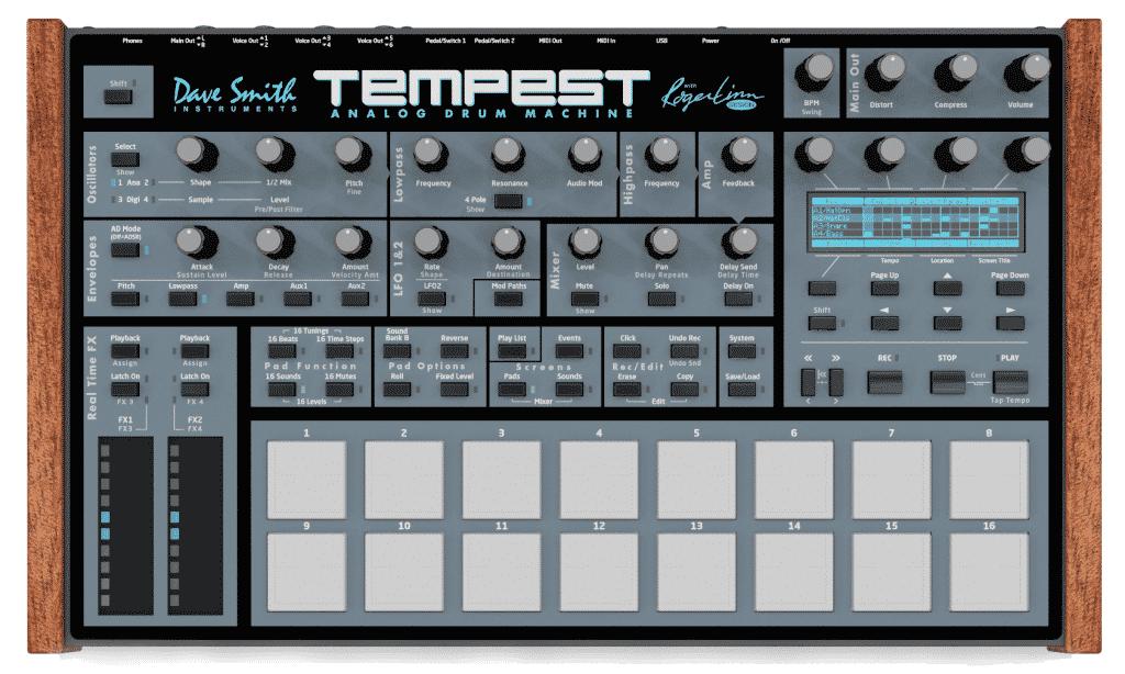 Tempest drummachine - net geen elektrisch drumstel