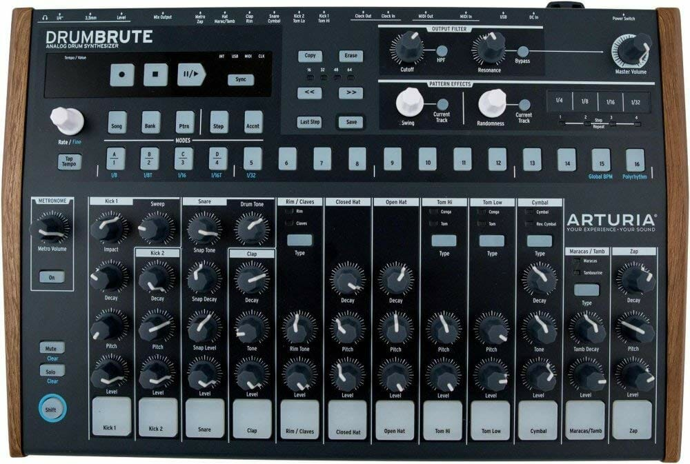 arturia drumbrute review synthesizer