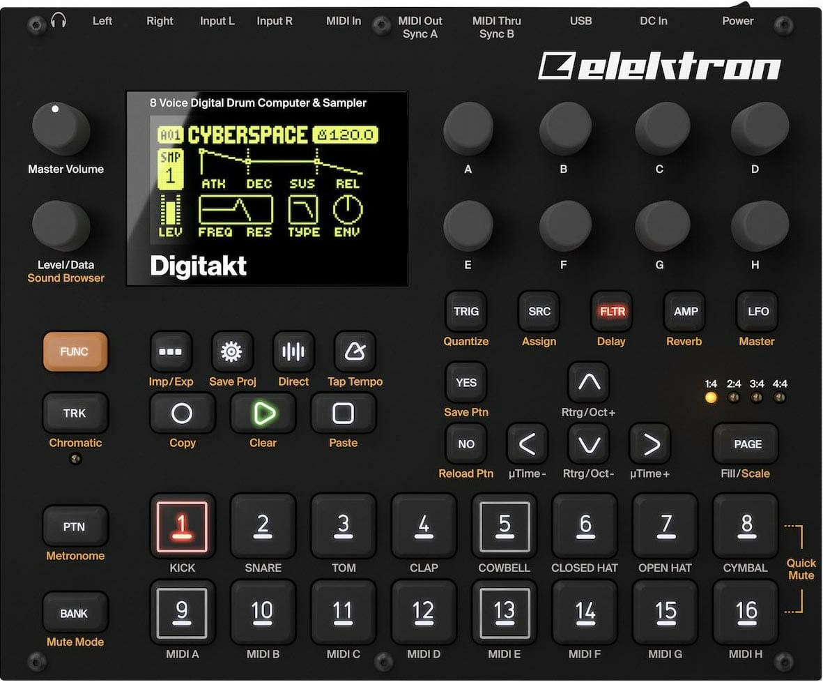 Beste Drum Synthesizer Elektron Digitakt