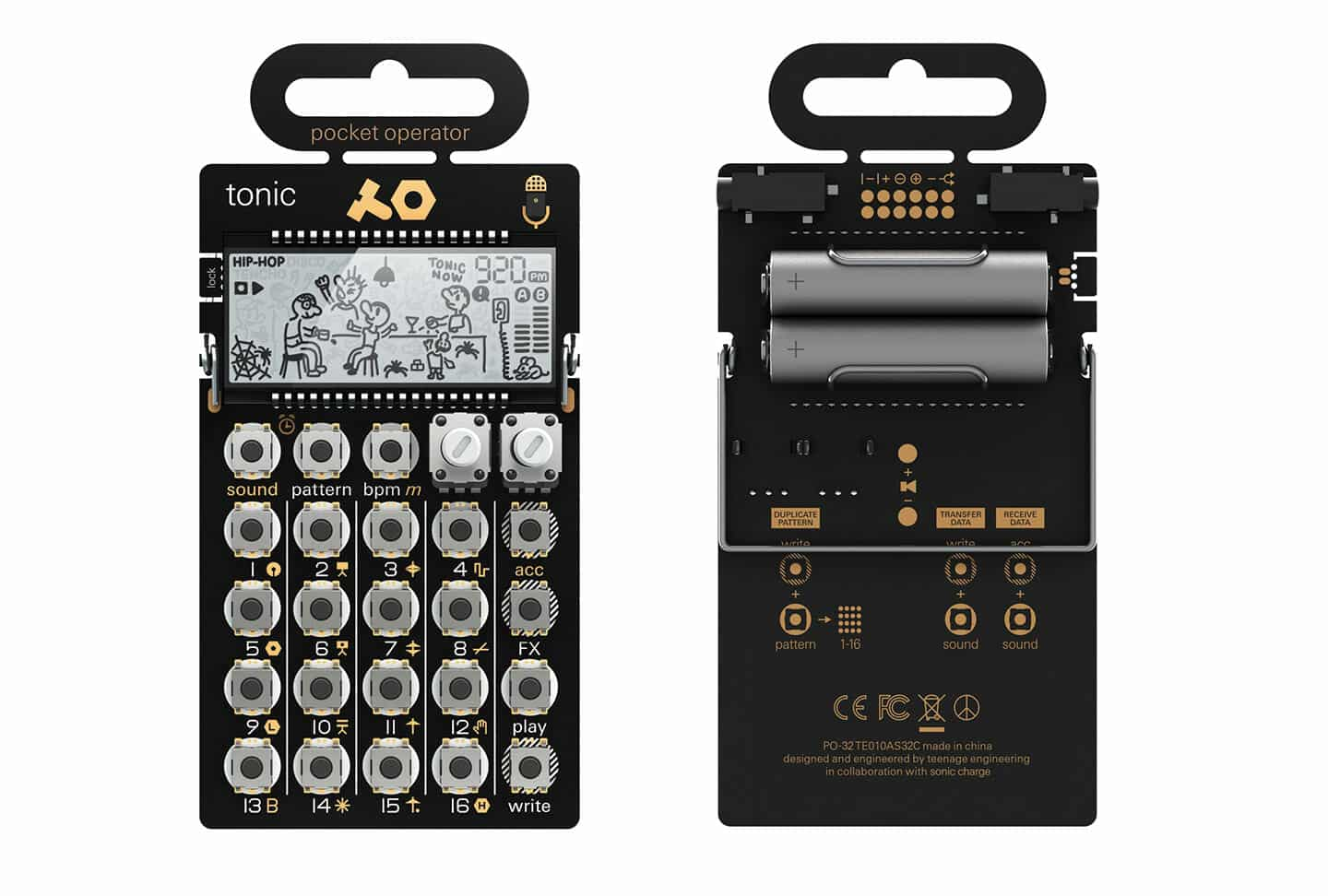 Beste Drum Synthesizer Teenage Engineering PO-32 Tonic