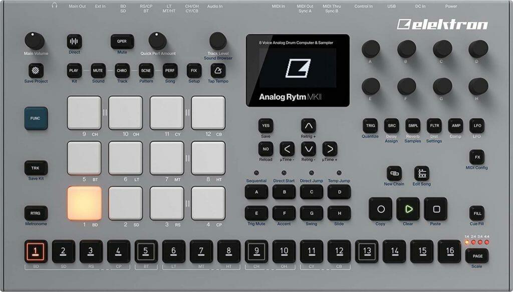 elektron analog rytm mk2 review drumcomputer kopen