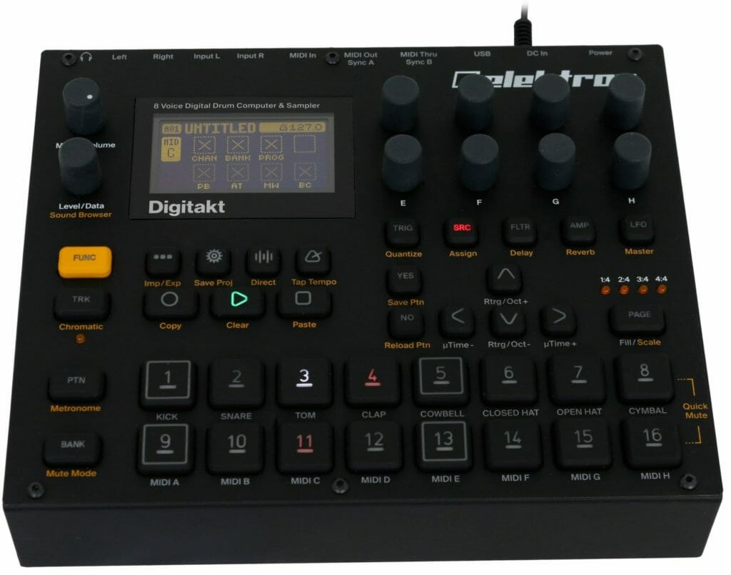 elektron digitakt drumsampler features